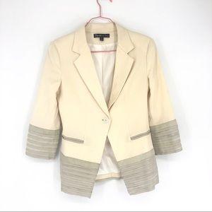 Elizabeth and James Cream White Blazer Jacket 4